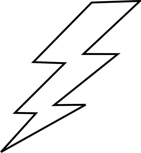 free lightning bolt stencil .