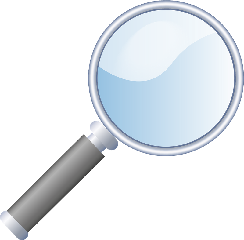 Free magnifying glass clip art .