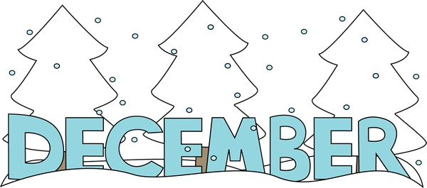 Free Month Clip Art | Month of December Snow Clip Art Image - the word December in blue with ... | ♦Months Of The Year♦ | Pinterest | December, ...