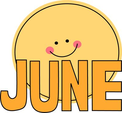 Free Month Clip Art | Month of June Sun Clip Art Image - the word June