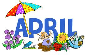 Free month of april clip art .
