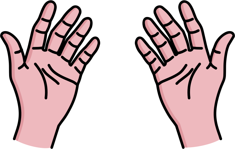 Free My Two Hands Clip Art