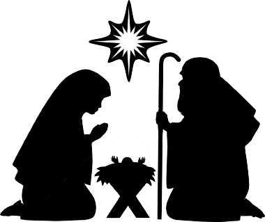 Free Nativity Silhouette .