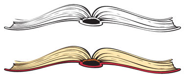Free open book clipart public. Open book vector illustration .