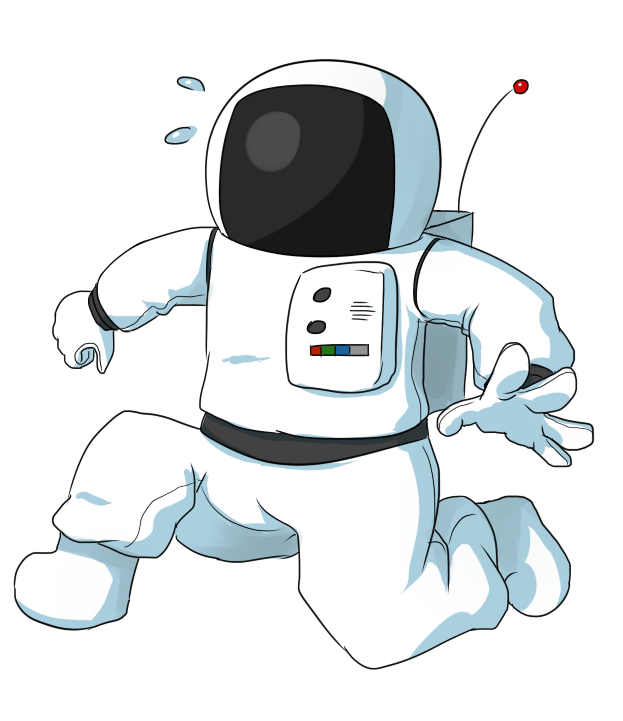 Free Panicking Cartoon Astronaut Clip Art