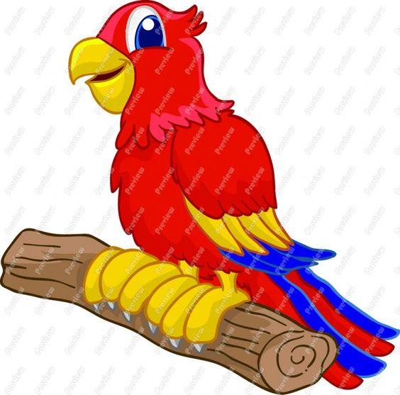 free parrot clip art | Cartoon Parrot Clip Art