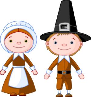 Free Pilgrim Couple Clip Art