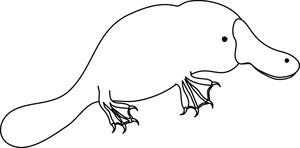 Free Platypus Clip Art Image: Platypus Coloring Page