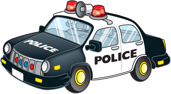 Free police car clipart