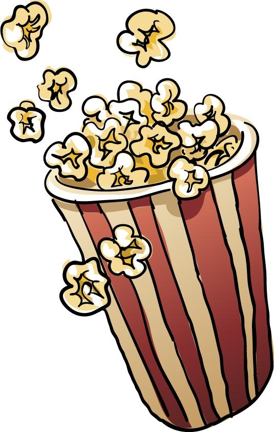 Free popcorn clipart images