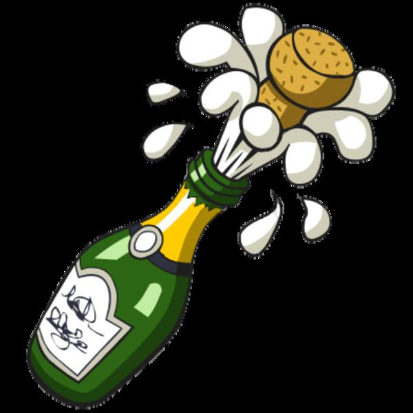 Free Popping Champagne Bottle Clip Art