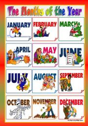 Free Printable Months Of The Year New Calendar Template Site