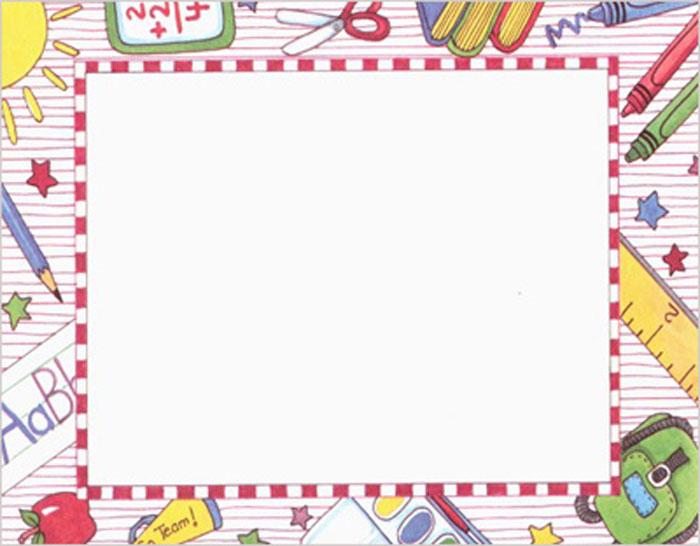 Free Printable School Borders printablee ...