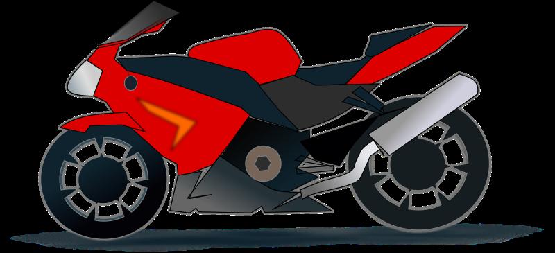 Free Racing Motorcycle Clip Art