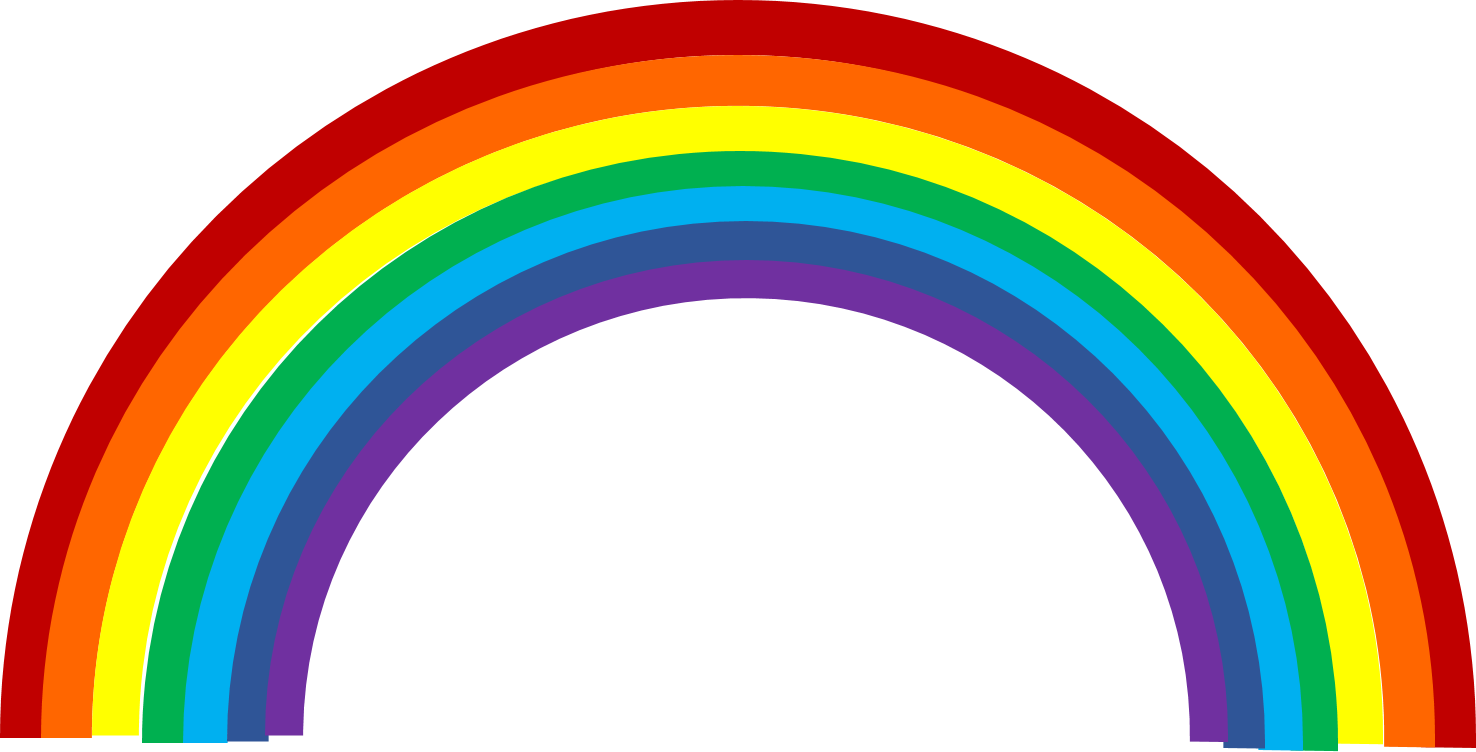 Clipart Of Rainbows