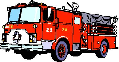 Free Realistic Fire Truck Clip Art