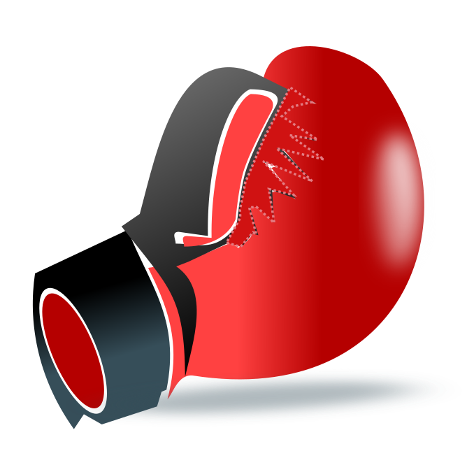 Free Red Boxing Glove Clip Art