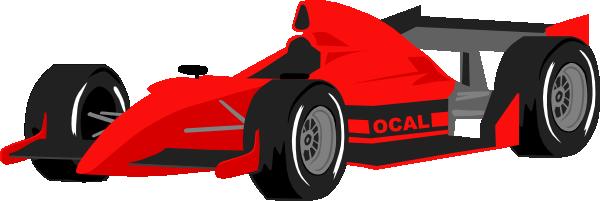 Free Red Formula One Race Car Clip Art