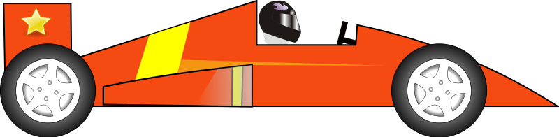 Free Red Race Car Clip Art