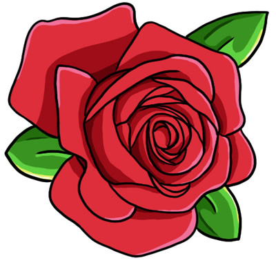 Free Red Rose Clip Art 1
