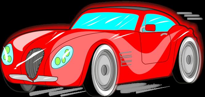 Free Red Sports Car Clip Art