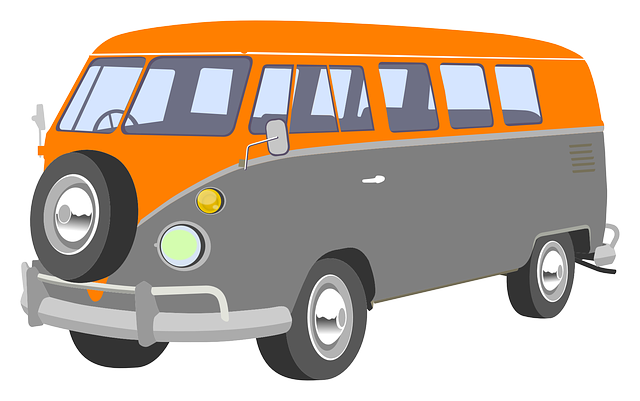 Free Retro Camper Van Clip Art
