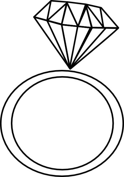 Free ring clipart black and .