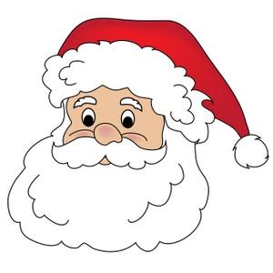 Free Santa Claus Clip Art Image: Clipart Illustration of Santau0026#39;s Face