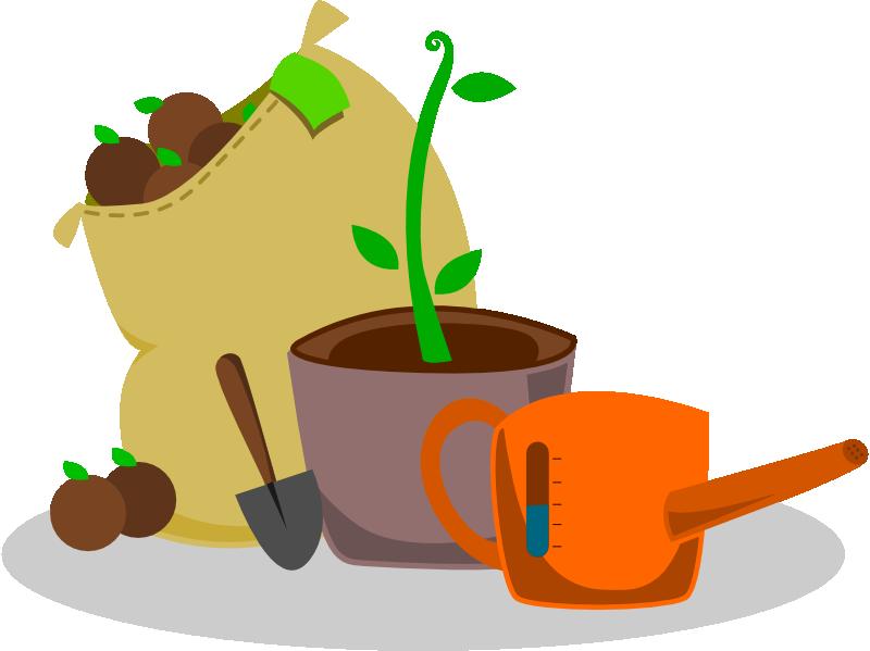 Free Set of Garden Supplies Clip Art