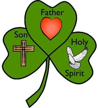 Free Shamrock template to create a craft in honor of the Blessed Trinity. There is a large heart to symbolize God the Father. There is a cross to represent ...