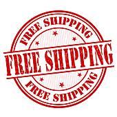 Free Shipping air cargo image logo · Free shipping stamp