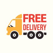 . ClipartLook.com Free Shipping; Free Delivery Icon. Flat Style.