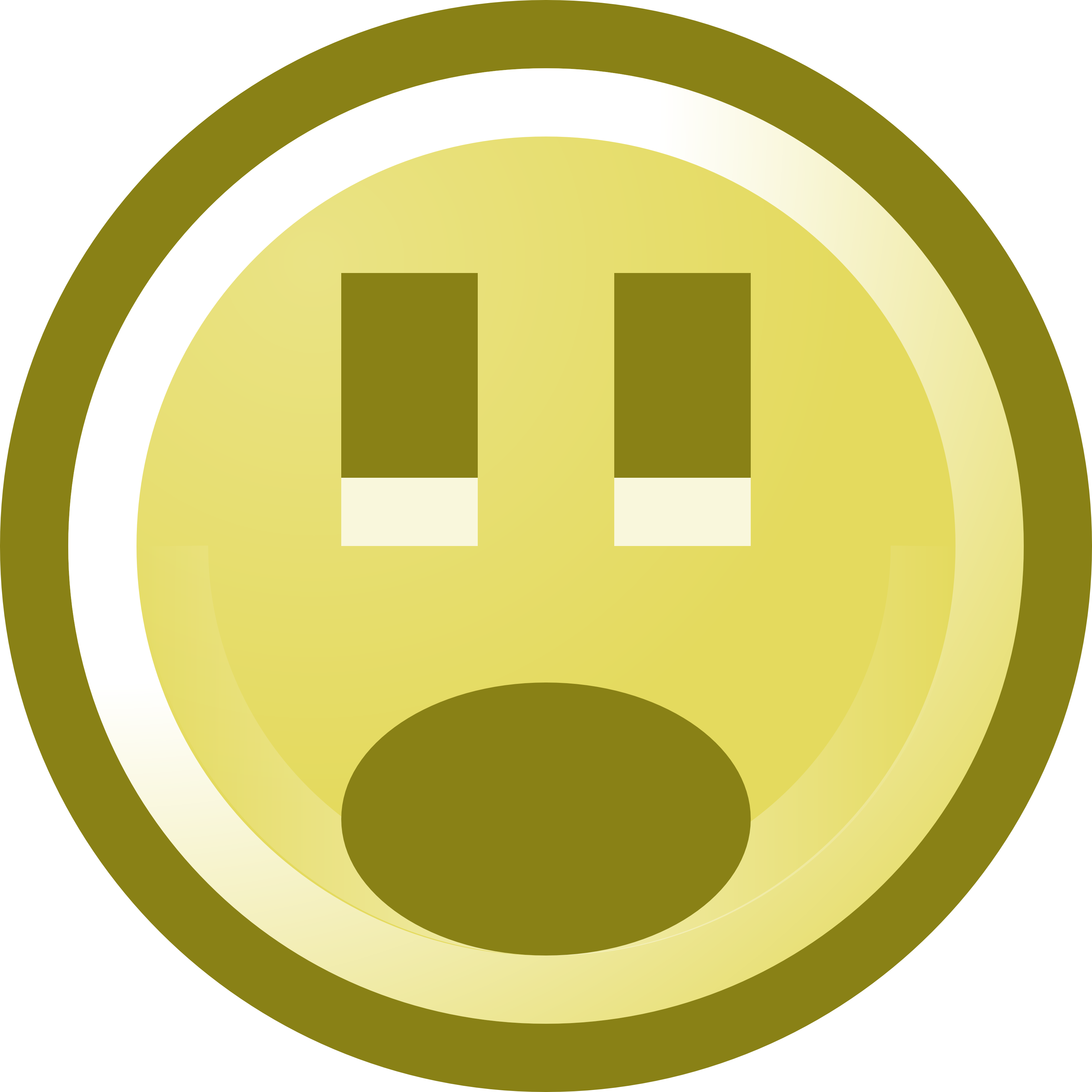 Free Shocked Smiley Face Clip Art Illustration by 000131 .