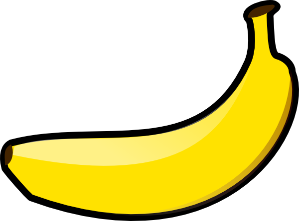 Free Simple Banana Clip Art