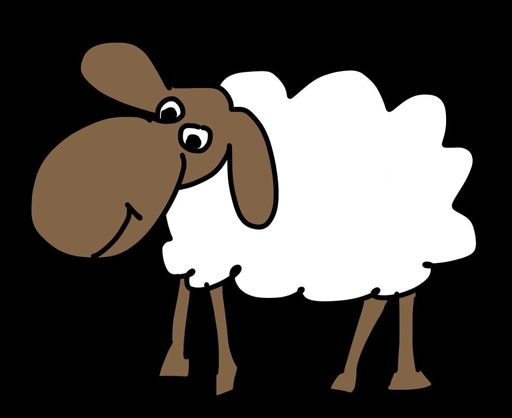 Free Simple Cartoon Sheep Clip Art