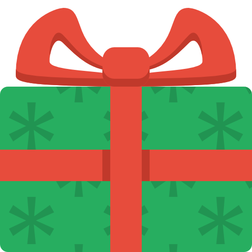 Free Simple Christmas Gift Clip Art