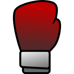 Free Simple Red Boxing Glove Clip Art