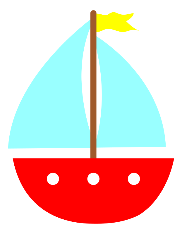 Free Simple Sailboat Clip Art