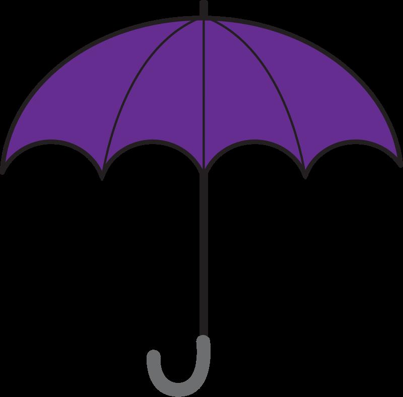 Free Simple Violet Umbrella Clip Art