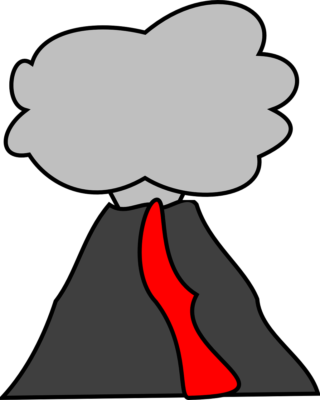 Free Simple Volcano Clip Art