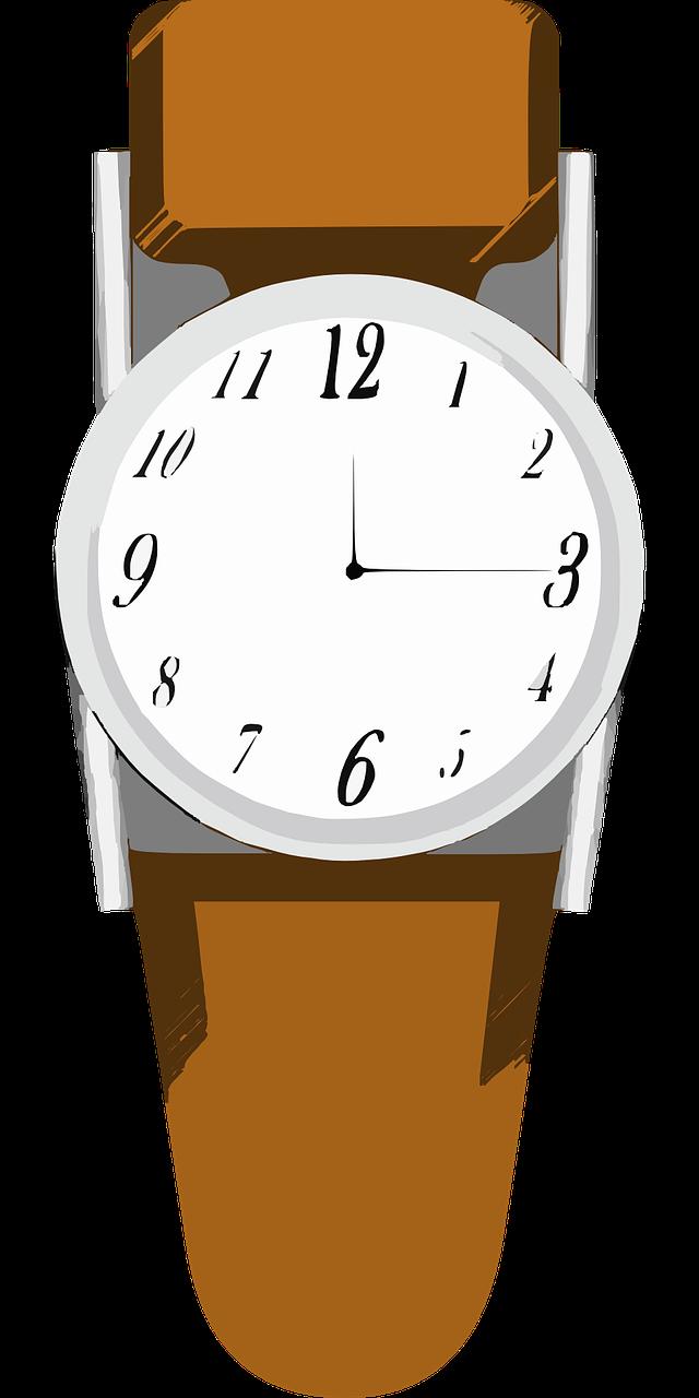 Free Simple Wristwatch Clip Art