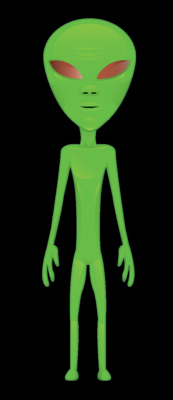 Free Skinny Green Alien Clip Art u0026middot; alien15