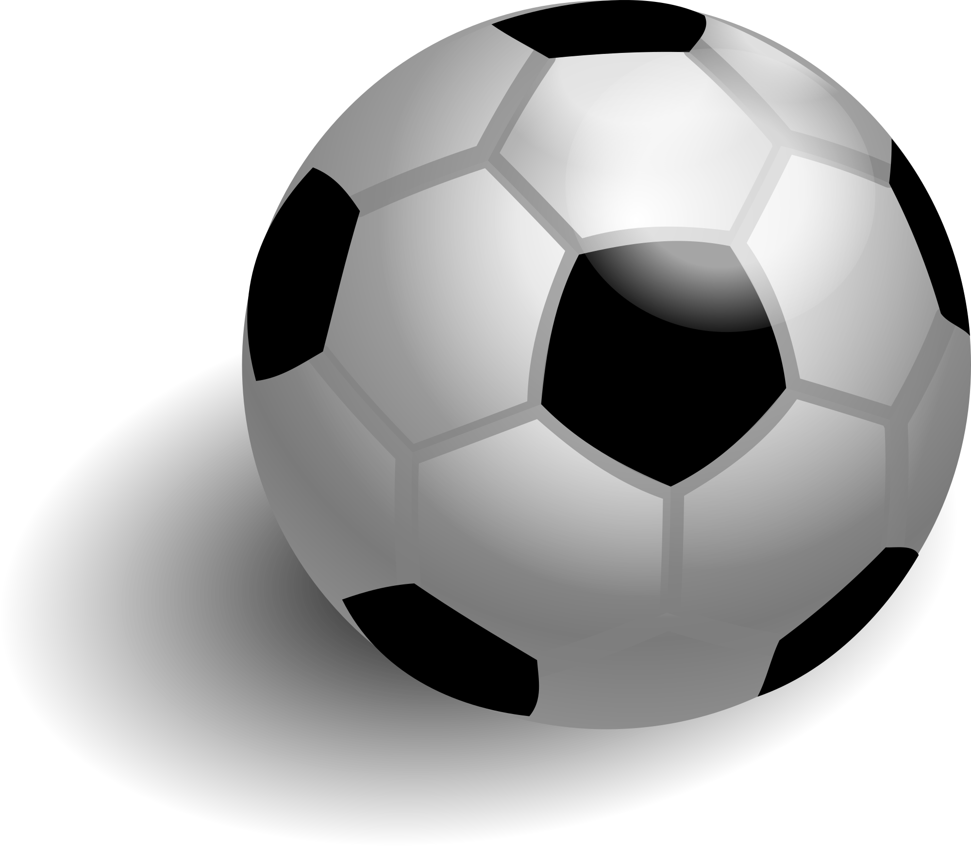 Free soccer ball with shadow clipart clipart and vector image 2