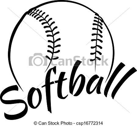 free softball clipart