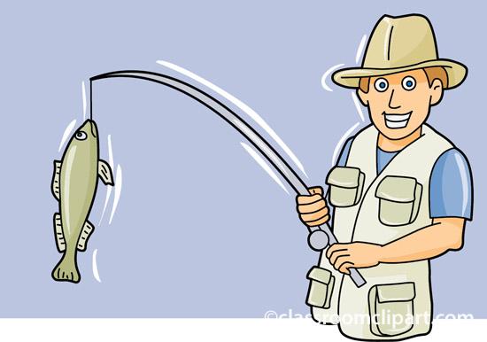kids fishing clipart