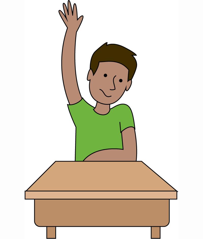 Free Student Raising Hand .