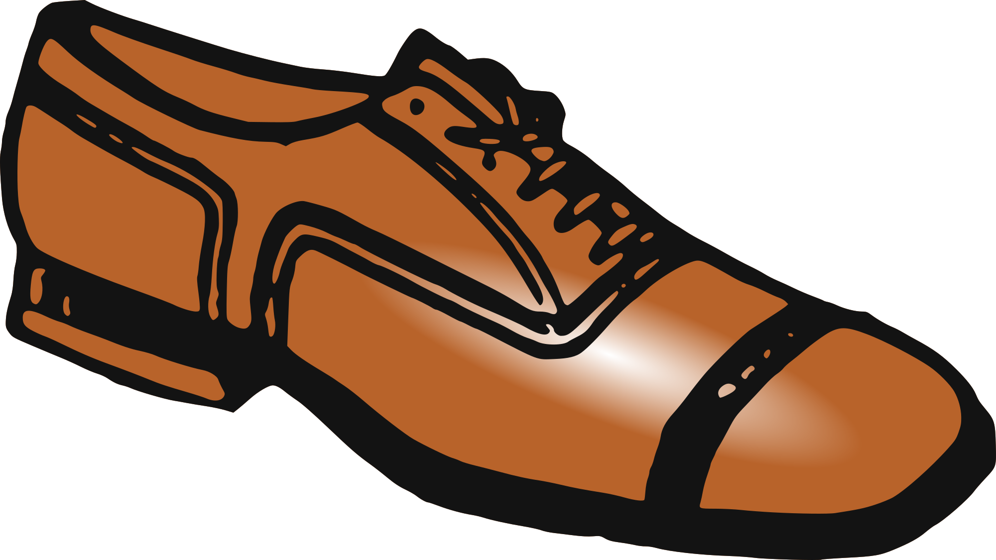 Free stylish mens shoe clipart clipart and vector image