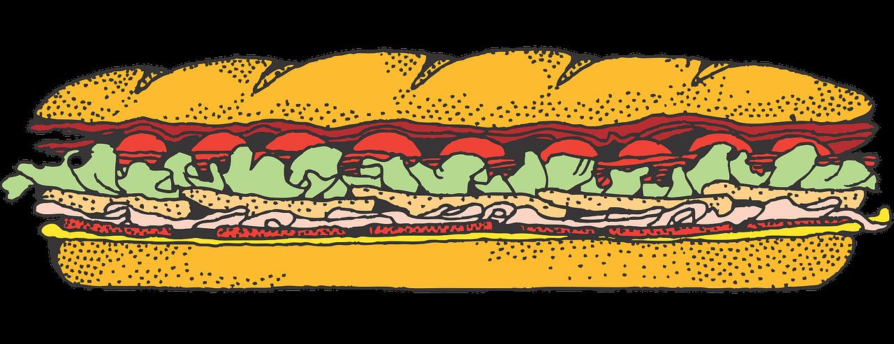 Free Submarine Sandwich Clip Art