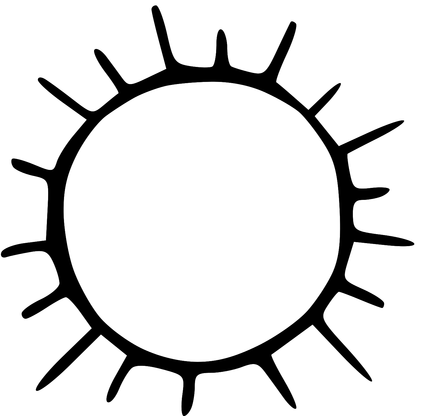 Free sun clipart black and .