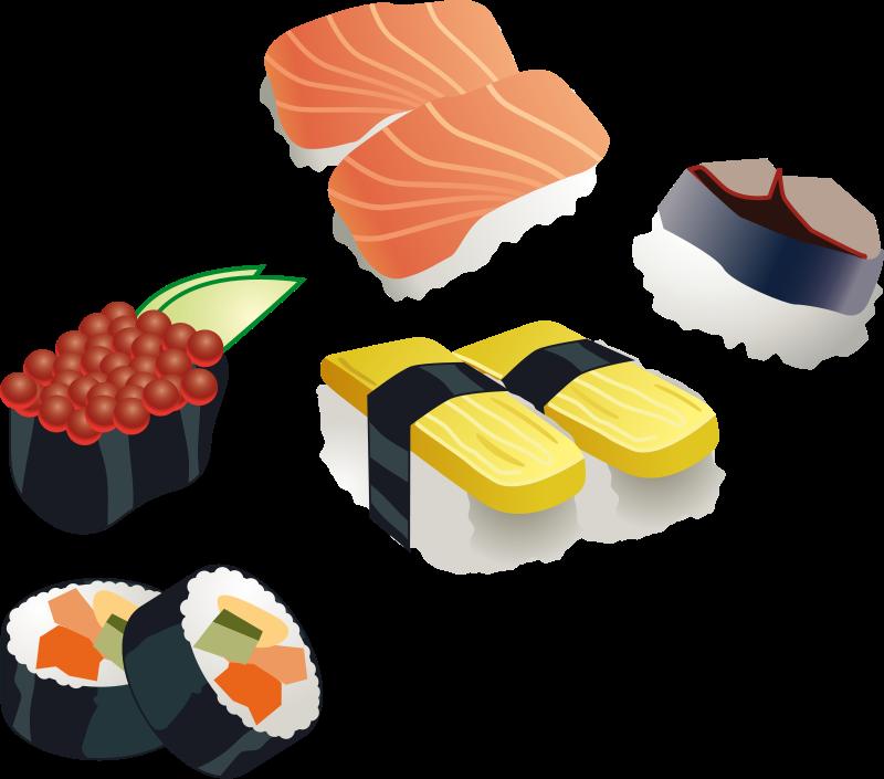 Free Sushi Set Clip Art